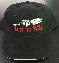 Born to Fish schwarz