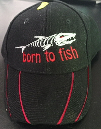 Born to Fish schwarz rot
